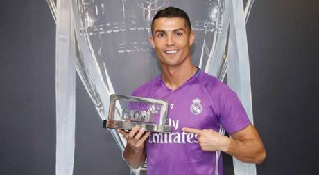 Ronaldo gianh giai 'Cau thu xuat sac nhat 2016', Messi dung thu 4 - Anh 1