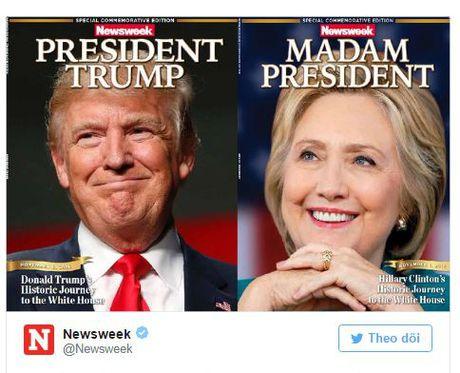Tap chi Newsweek in nham trang bia thanh nu Tong thong Hillary Clinton - Anh 2