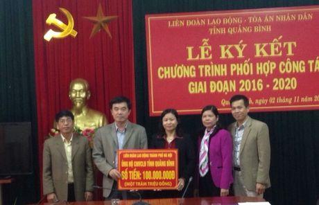 LDLD TP Ha Noi ung ho hon 1,5 ti dong toi dong bao mien Trung - Anh 1