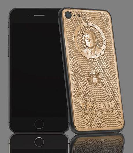 iPhone 7 phien ban Donald Trump gia hon 3.000 USD - Anh 1