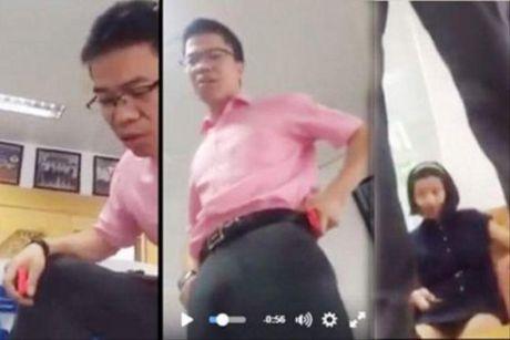 Hoc vien bi hieu truong dung len ban chui bay doi doi chat cong khai - Anh 1
