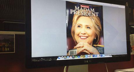 Tap chi My goi nham ba Hillary Clinton la 'tong thong' - Anh 1