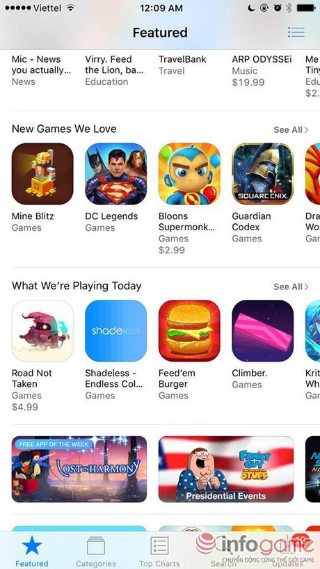 Trong 1 ngay, 3 game nguoi Viet lam lot top 50 game de cu tai App Stores My - Anh 1