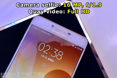 Tren tay smartphone RAM 6 GB, camera selfie 16 MP cua Samsung - Anh 7