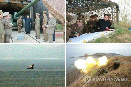 Sau bau cu My, ong Kim Jong-un bat ngo cho phao binh tap tran - Anh 1