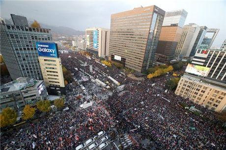Seoul lai bieu tinh lon doi ba Park Geun-hye tu chuc - Anh 4