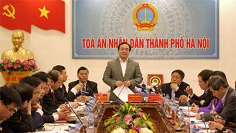 Bi thu Thanh uy Ha Noi lam viec voi TAND hai cap thanh pho Ha Noi - Anh 2