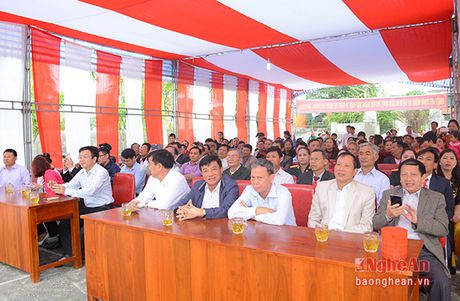 Bi thu Thanh uy Vinh chung vui ngay hoi dai doan ket voi nhan dan Nghi Kim - Anh 1