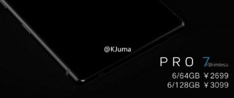 "He lo smartphone ""khong vien man hinh"" Meizu Pro 7 - Anh 1"