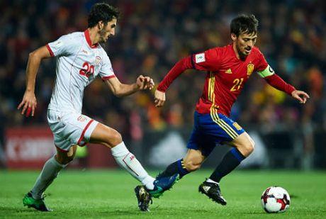 Tay Ban Nha - Macedonia: Hiep 2 bung no - Anh 1