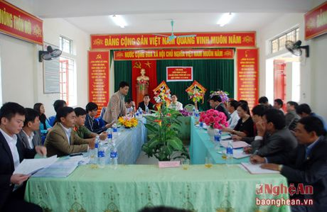 Tham dinh tieu chi nong thon moi tai Nam Dan, Nghi Loc - Anh 1