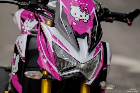Kawasaki Z800 do Hello Kitty cua nu biker Sai Gon - Anh 4