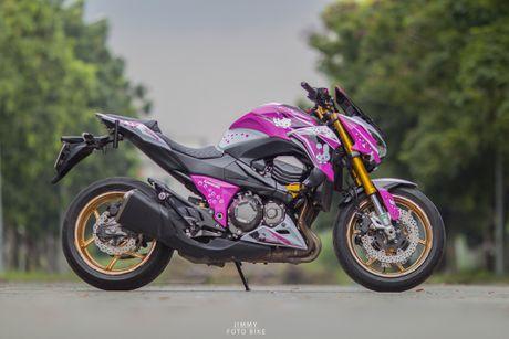 Kawasaki Z800 do Hello Kitty cua nu biker Sai Gon - Anh 5