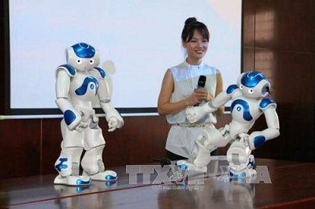 Truong dai hoc dau tien o Viet Nam mua robot phuc vu giang day - Anh 1
