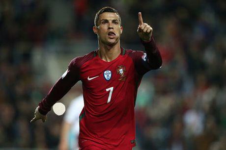 Lap cu dup truoc Latvia, Ronaldo tao nen ky luc moi - Anh 1