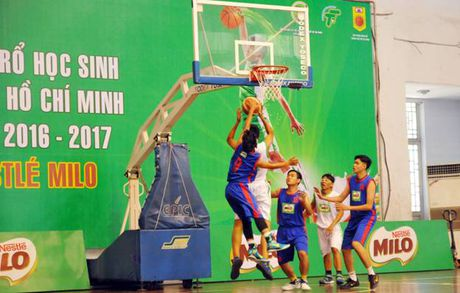 Giai bong ro hoc sinh TP HCM nam 2016 - 2017 - Anh 1