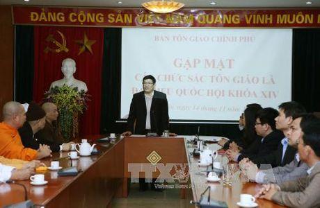 Ban Ton giao Chinh phu gap mat cac chuc sac ton giao la dai bieu Quoc hoi khoa XIV - Anh 1