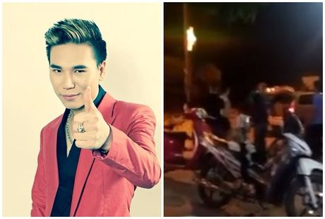 Xe cua Chau Viet Cuong bi nhom nguoi say ruou chan danh, tai xe bi thuong nang - Anh 1