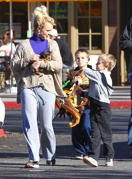 Britney Spears, co ay giau nhung sau san khau van la nguoi me cua hai dua con trai - Anh 7