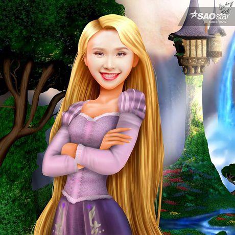 Khi my nhan Vbiz la ban sao hoan hao cua nhung nang cong chua Disney! - Anh 6