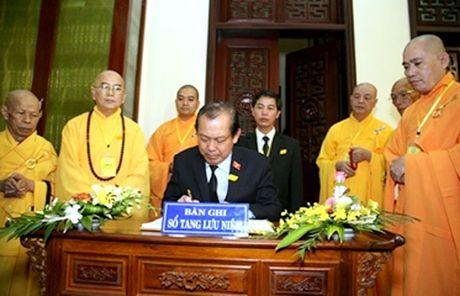 Pho Thu tuong Thuong truc Truong Hoa Binh vieng Hoa thuong Thich Chon Thien - Anh 2