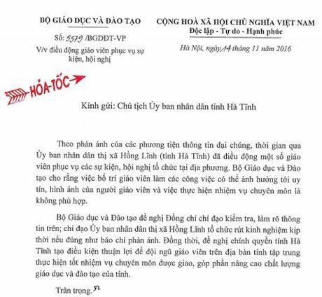 Bo Giao duc gui cong van hoa toc ve dieu giao vien tiep khach - Anh 1