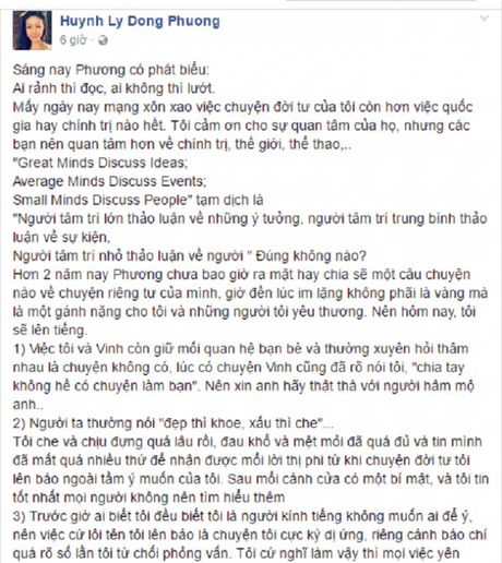 Nu co truong Vietnam Airlines len tieng vu chia tay Truong The Vinh - Anh 2