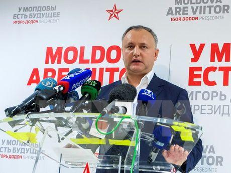 Moldova: Bieu tinh doi tien hanh bau cu tong thong vong ba - Anh 1