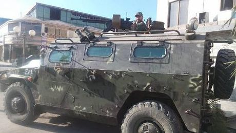 Syria tang cuong hoa luc cho xe boc thep 'con cop' - Anh 1