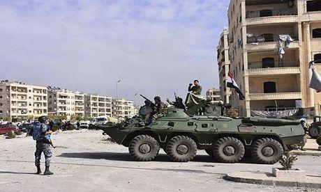 Quan doi Syria giai phong quan Dahiyet al-Assad o tay Aleppo - Anh 1