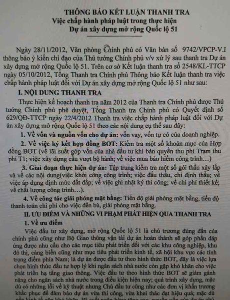 Du an BOT quoc lo 51: Co hay khong nhung 'lo hong' chuyen von? - Anh 3