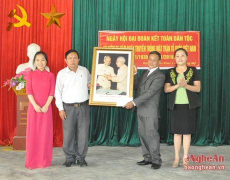 Dong chi Nguyen Thi Thu Huong du ngay hoi dai doan ket tai Hung My (Hung Nguyen) - Anh 4
