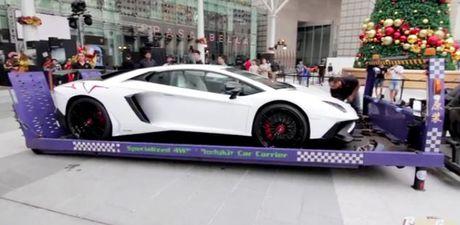 Can canh qua trinh van chuyen sieu bo Lamborghini Aventador LP750-4 gia trieu do - Anh 1