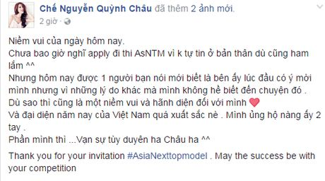Quynh Chau: 'Toi bat ngo ve viec bi em thong tin duoc moi thi Next Top chau A' - Anh 6