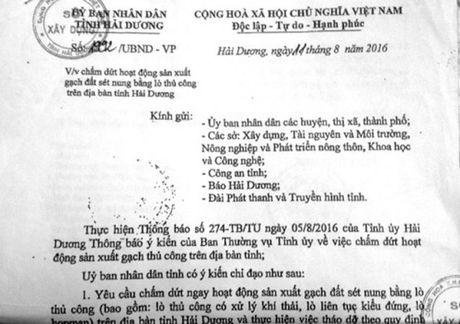UBND tinh Hai Duong lam trai quy dinh cua Thu tuong? - Anh 2