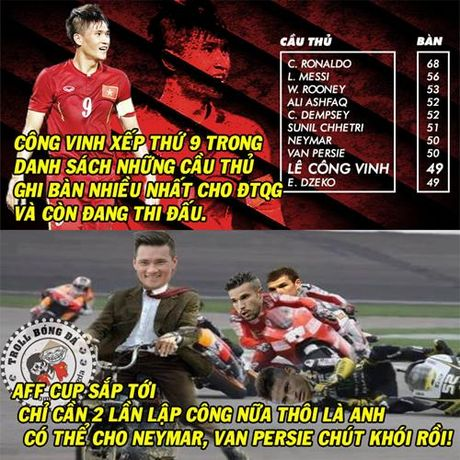 Biem hoa 24h: Cong Vinh do suc cung Neymar tren duong dua huyen thoai - Anh 1
