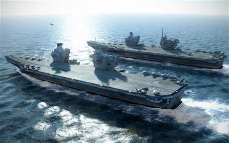 Anh het tien mua day dien cho tau HMS Queen Elizabeth - Anh 1