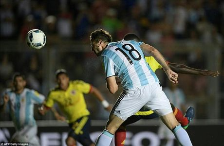 Argentina 3-0 Colombia: Goi ten Lionel Messi va Di Maria - Anh 3