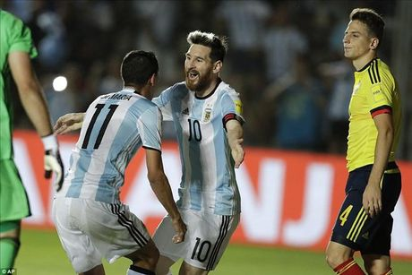 Argentina 3-0 Colombia: Goi ten Lionel Messi va Di Maria - Anh 4