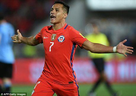 Chile 3-1 Uruguay: Alexis Sanchez toa sang, Arsenal bat an - Anh 1