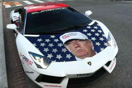 Sieu xe Aventador noi tieng nho ung ho Donald Trump - Anh 2