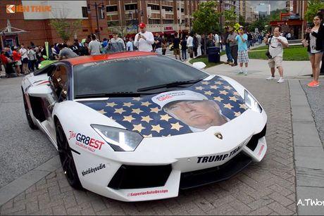 Sieu xe Aventador noi tieng nho ung ho Donald Trump - Anh 6