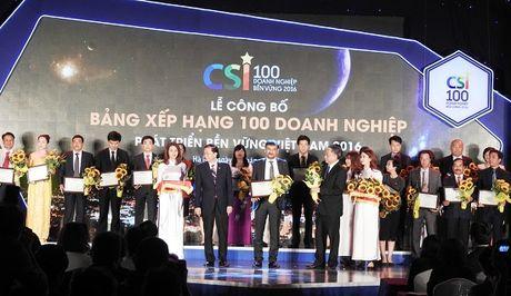 Suntory PepsiCo Viet Nam lot top 100 doanh nghiep ben vung 2016 - Anh 1