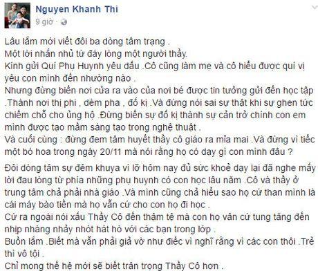 Khanh Thi buon vi bi phu huynh hoc sinh mia mai  - Anh 2