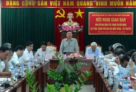 Nang cao chat luong thong tin doi ngoai khu vuc mien Trung -Tay Nguyen - Anh 1