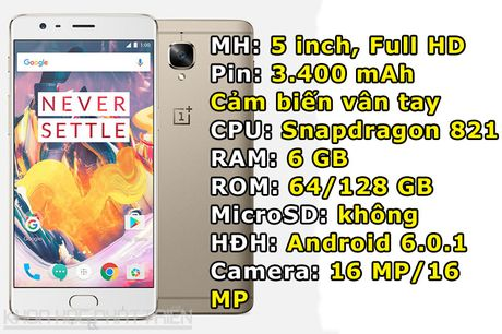 OnePlus 3T trinh lang: Camera selfie 16 MP, RAM 6 GB - Anh 1