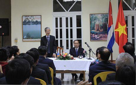 Chu tich nuoc Tran Dai Quang tham Dai su quan Viet Nam tai Cuba - Anh 2