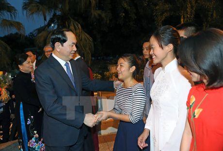 Chu tich nuoc tham Truong tieu hoc Nguyen Van Troi o La Habana - Anh 1