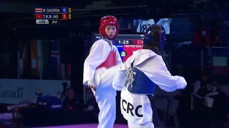 Nu vo si taekwondo Viet cao 1m78 doat HCV tre the gioi - Anh 2