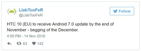 HTC 10 sap duoc len doi Android 7.0 Nougat - Anh 1